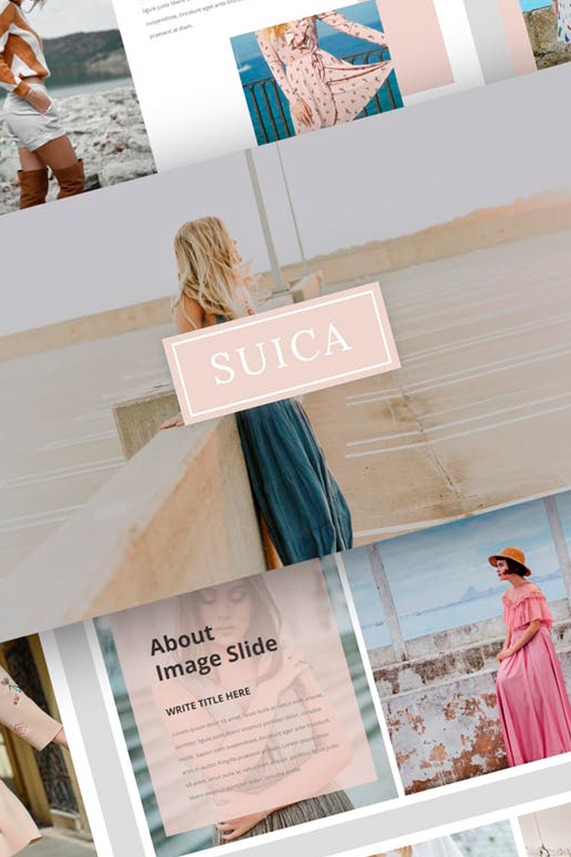 Suica - Modelling Presentation PowerPoint Template