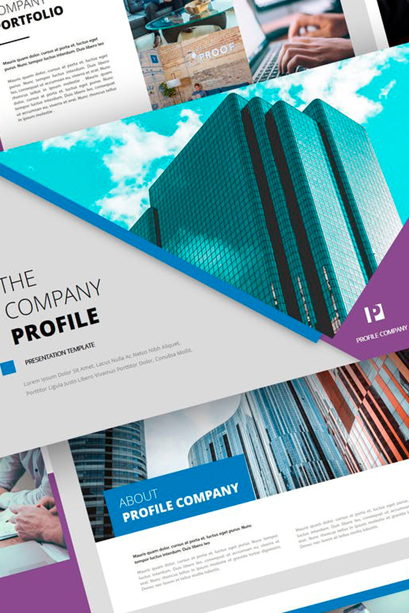 Ovizer - Company Profile Presentation PowerPoint Template
