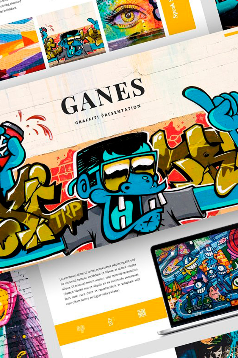 Ganes - Graffiti Presentation PowerPoint Template