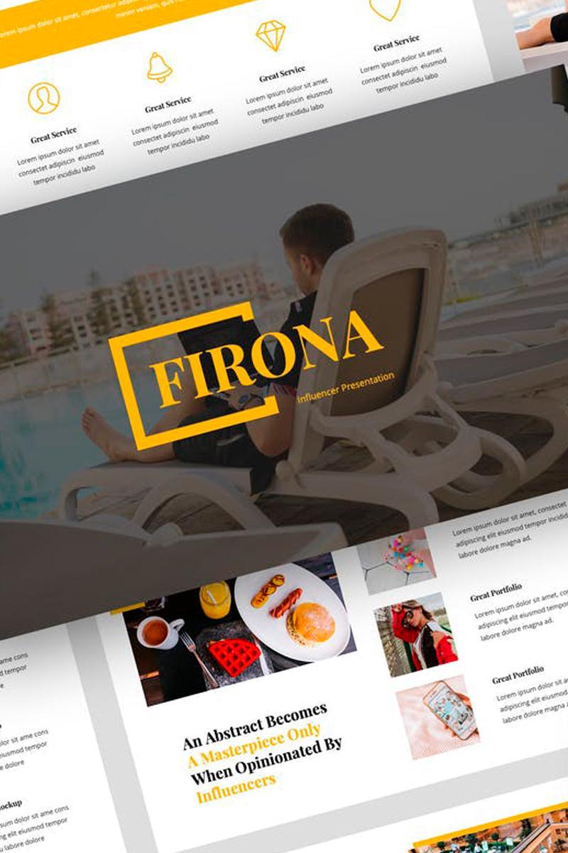 Firona - Influencer Presentation PowerPoint Template