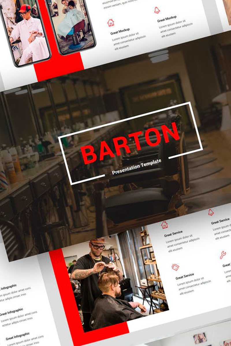 Barton - Barbershop Presentation PowerPoint Template