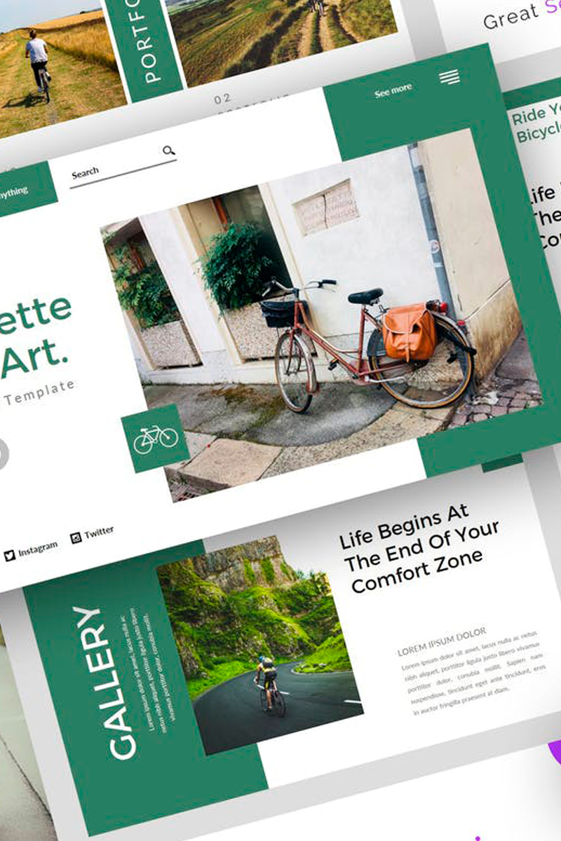 Bicyclette - Bicycle Presentation PowerPoint Template