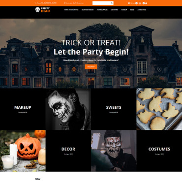 Template Halloween MotoCMS Ecommerce #88349