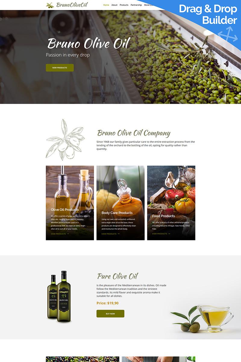 Bruno Olive Oil Company Moto CMS 3 Template