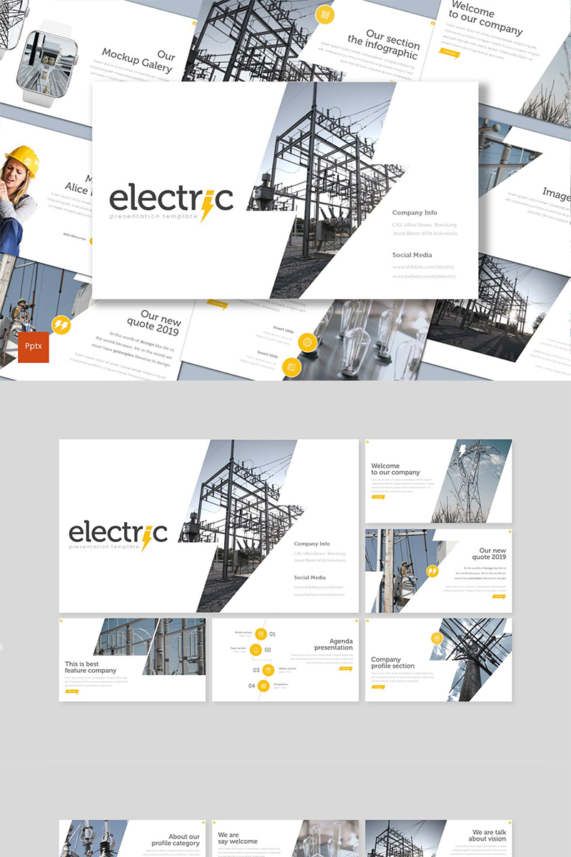 Electric PowerPoint Template