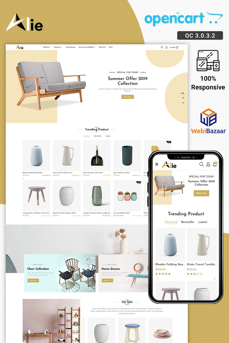 Alie Best Furniture OpenCart Template