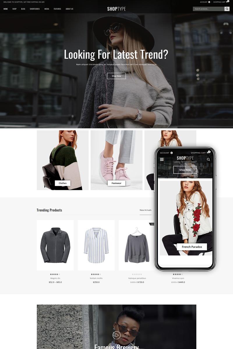ShopType - Fashion WooCommerce Theme