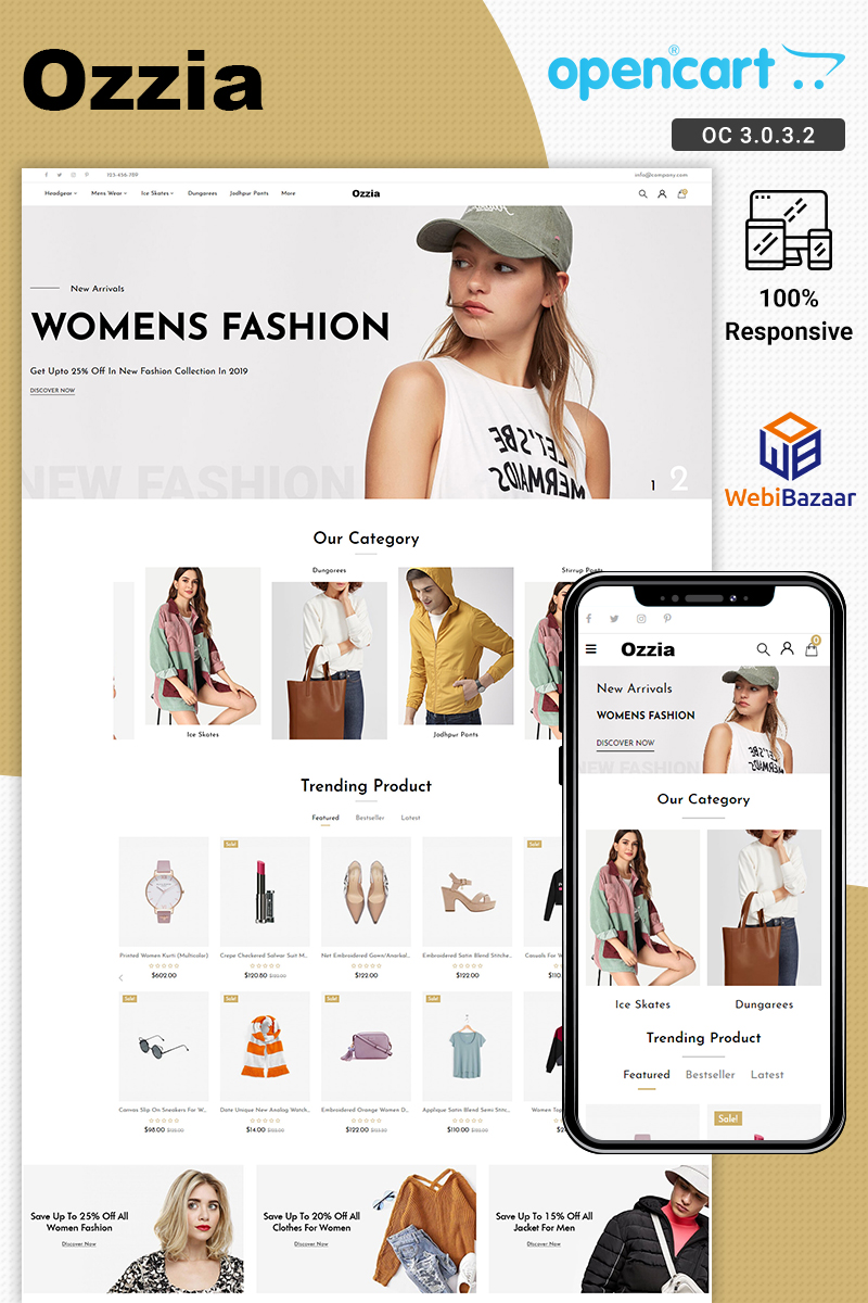 Ozzia - Multipurpose Fashion Store OpenCart Template