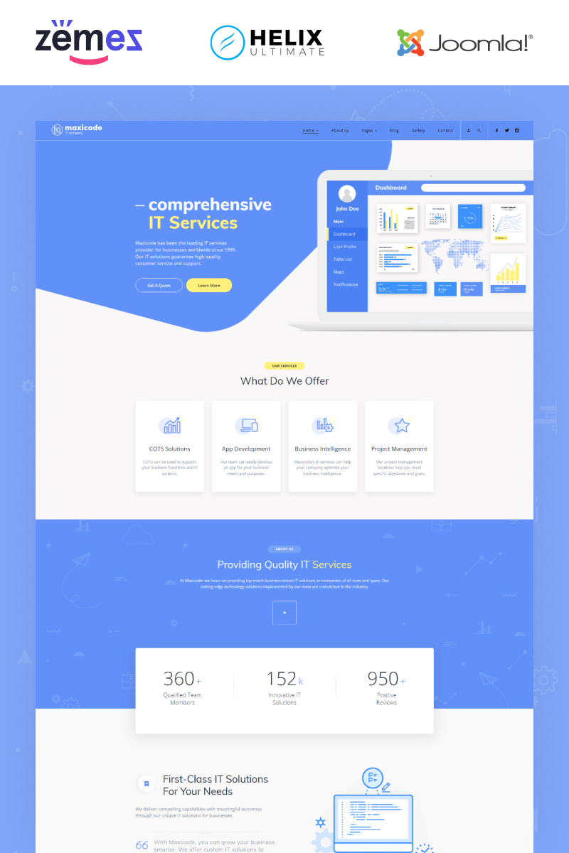 Maxicode - IT Multipage Creative Joomla Template