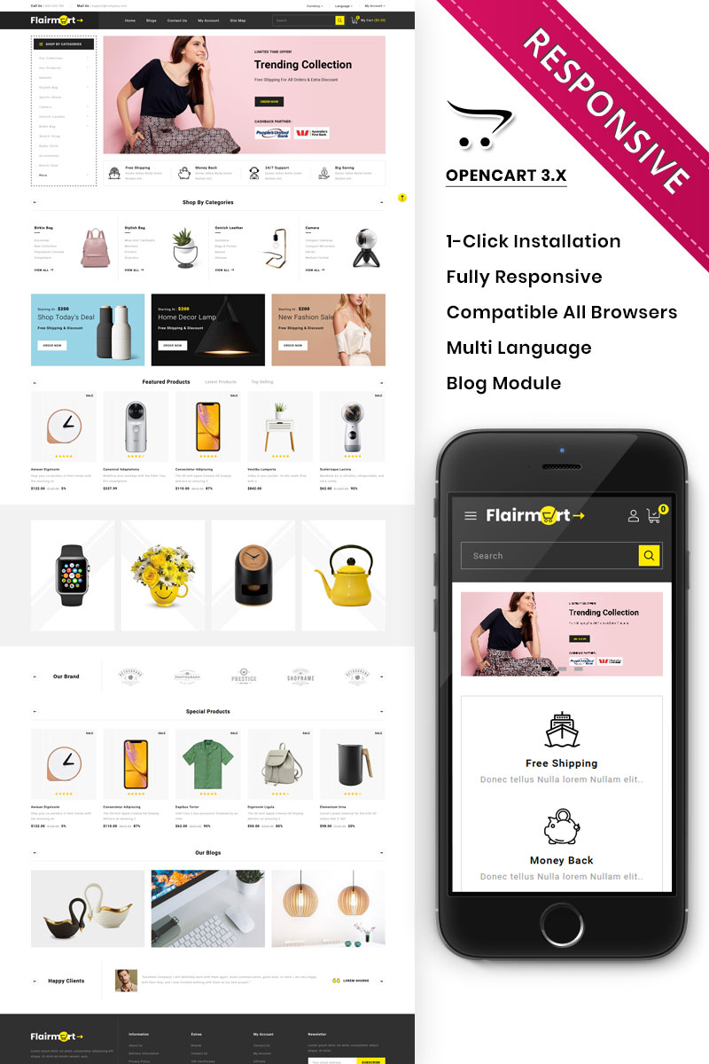Flairmart - The Mega Store OpenCart Template