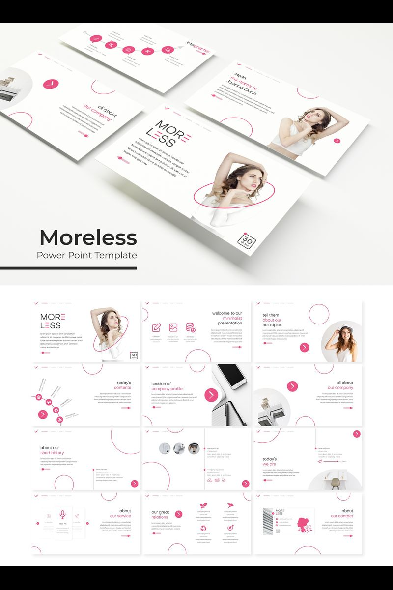 Moreless PowerPoint Template
