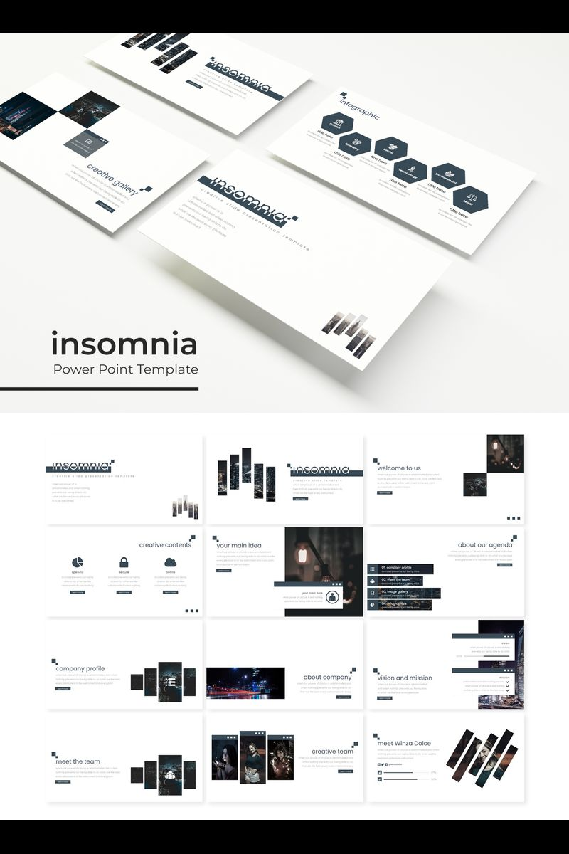 Insomnia PowerPoint Template