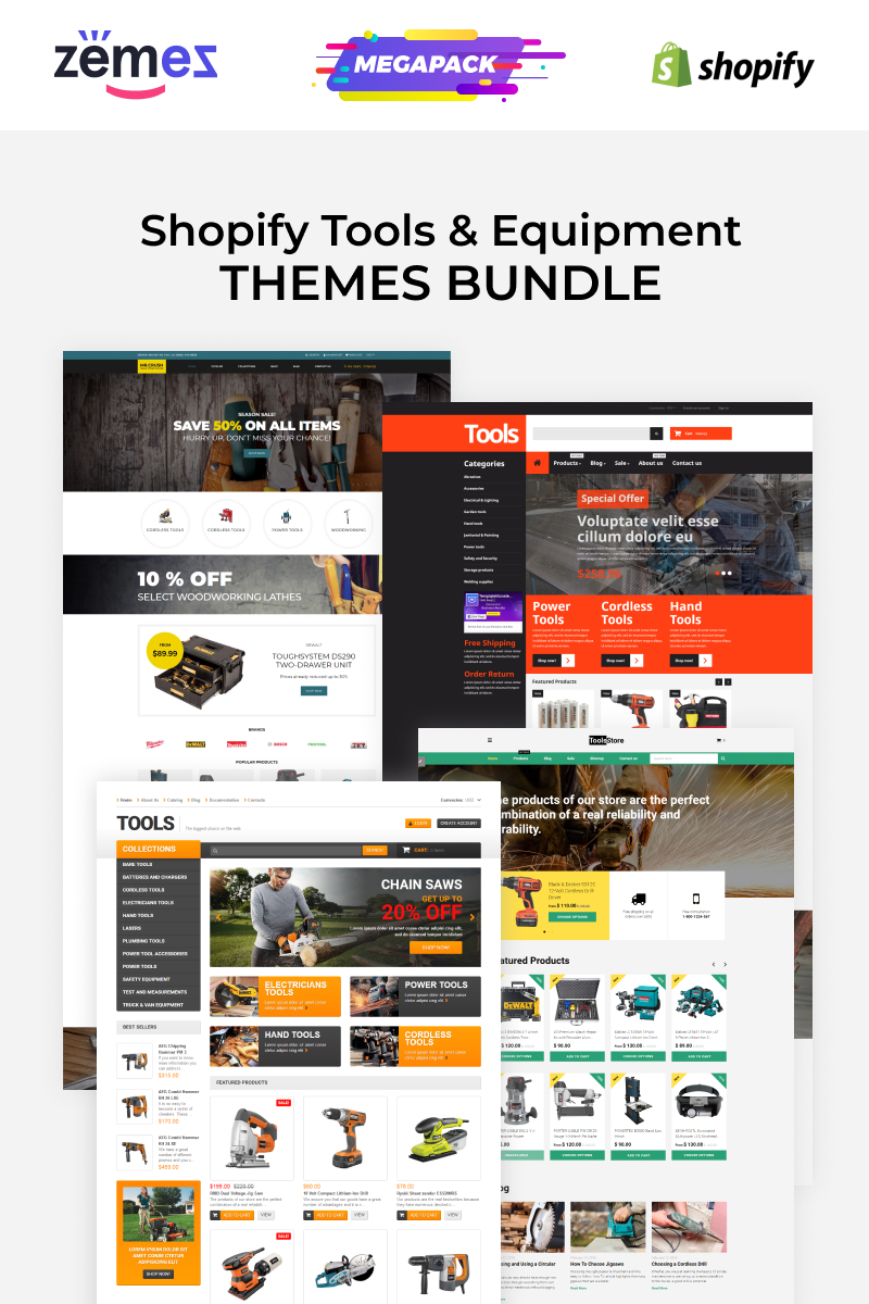 Tools Store Templates Bundle Shopify Theme