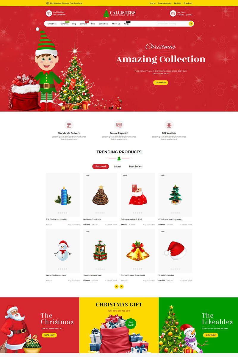 Callisters Gift Store Shopify Theme