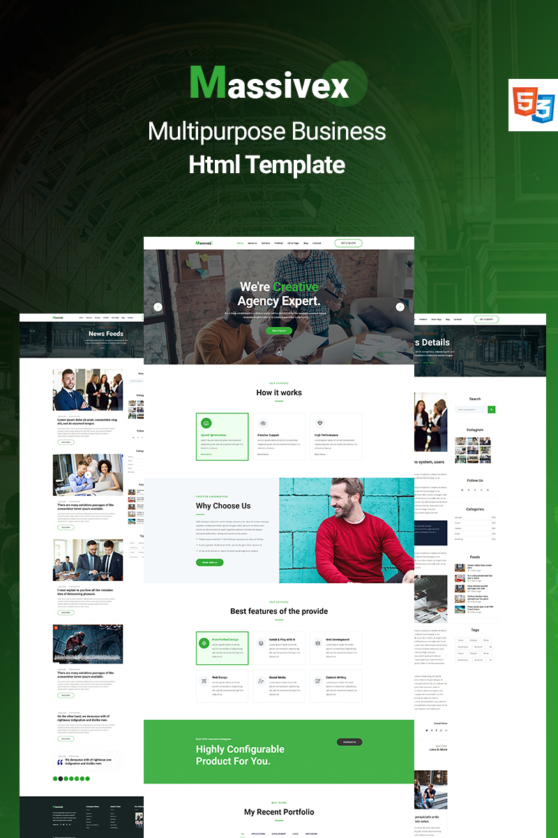 Massivex - Multipurpose Business Landing Page Template