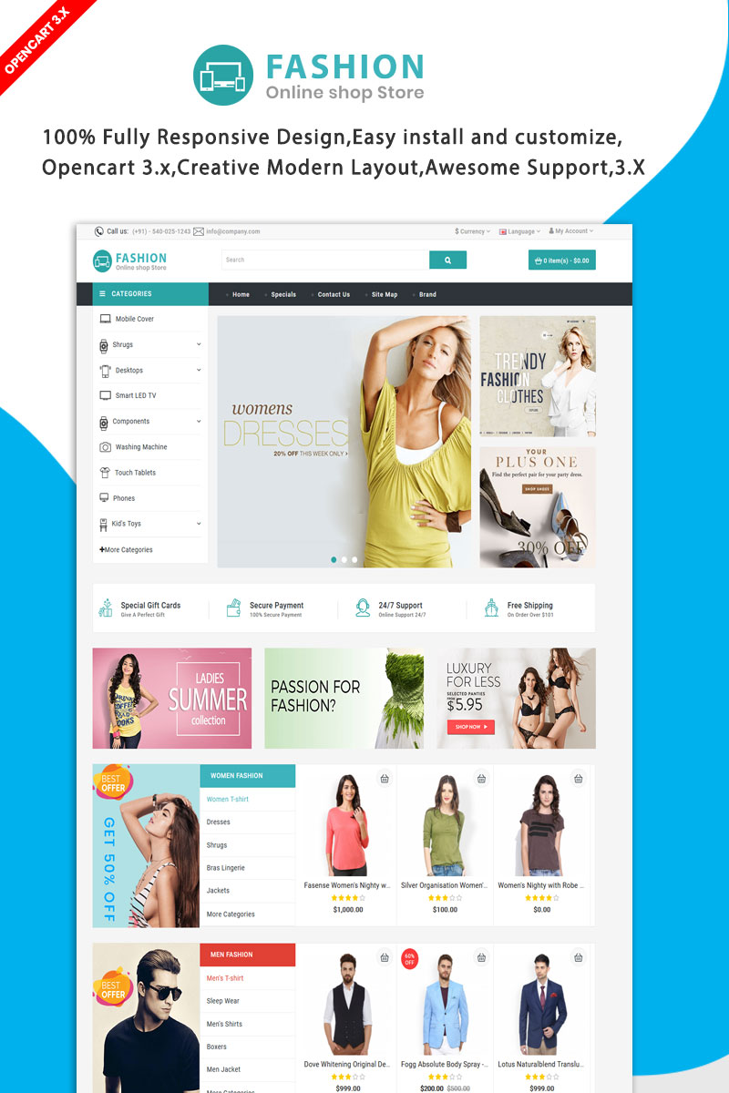 Fashion Multipurpose OpenCart Template