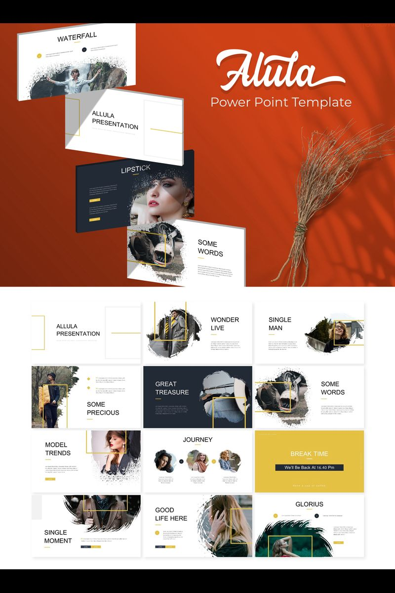 Alula Brush PowerPoint Template