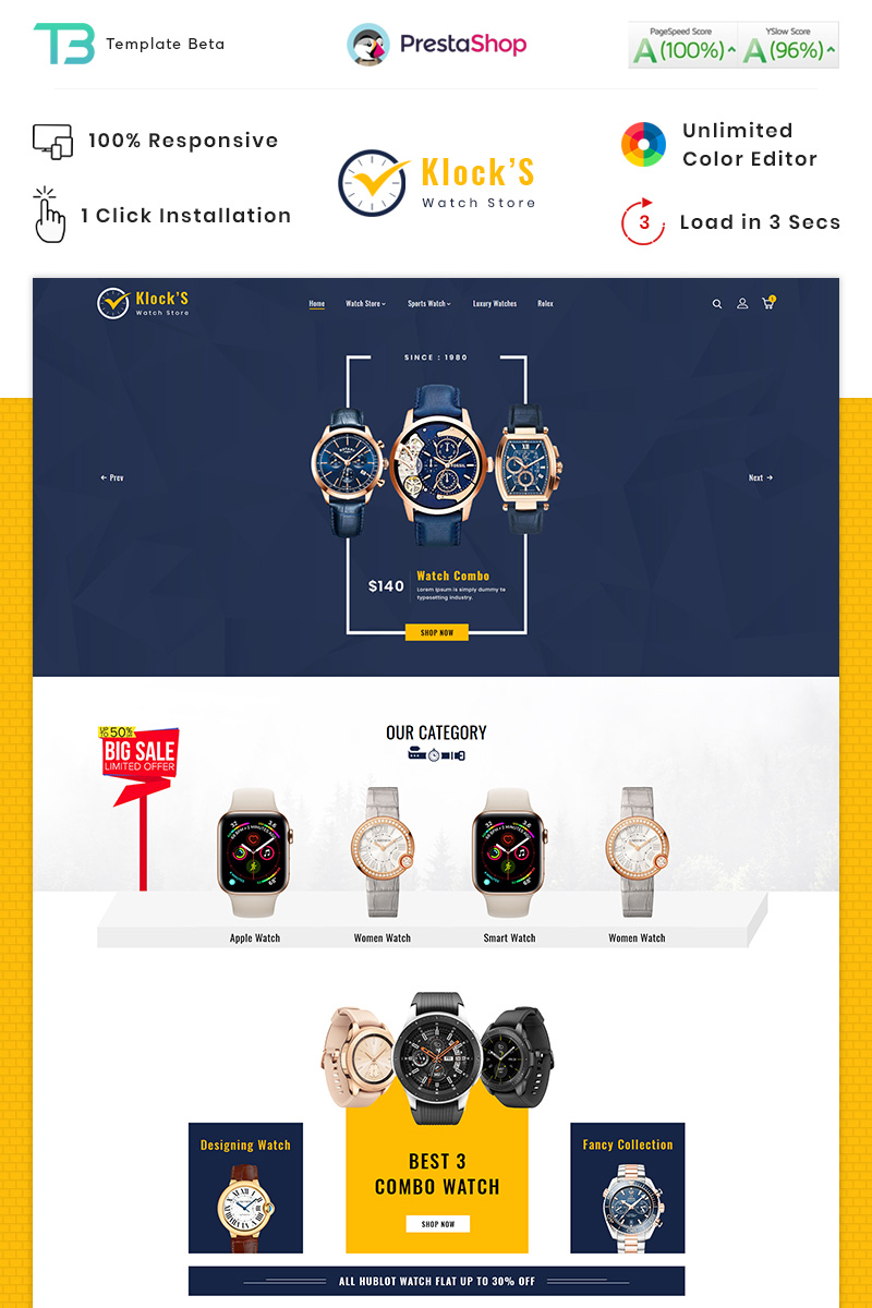 Klocks - Watch PrestaShop Theme