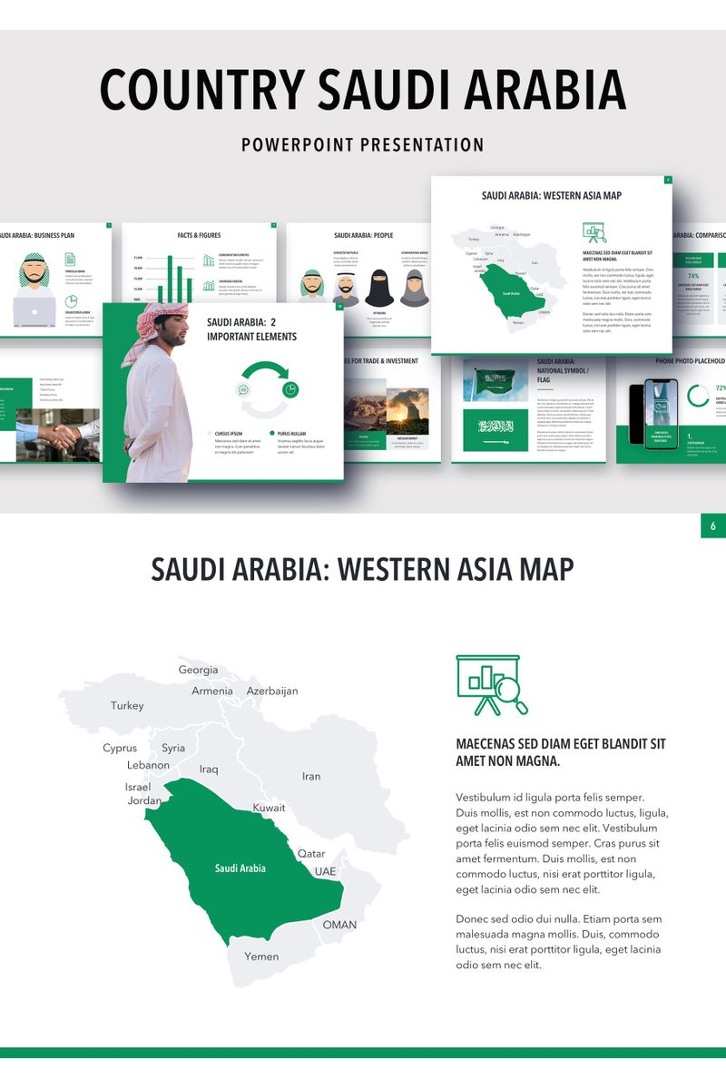 Country Saudi Arabia PowerPoint Template