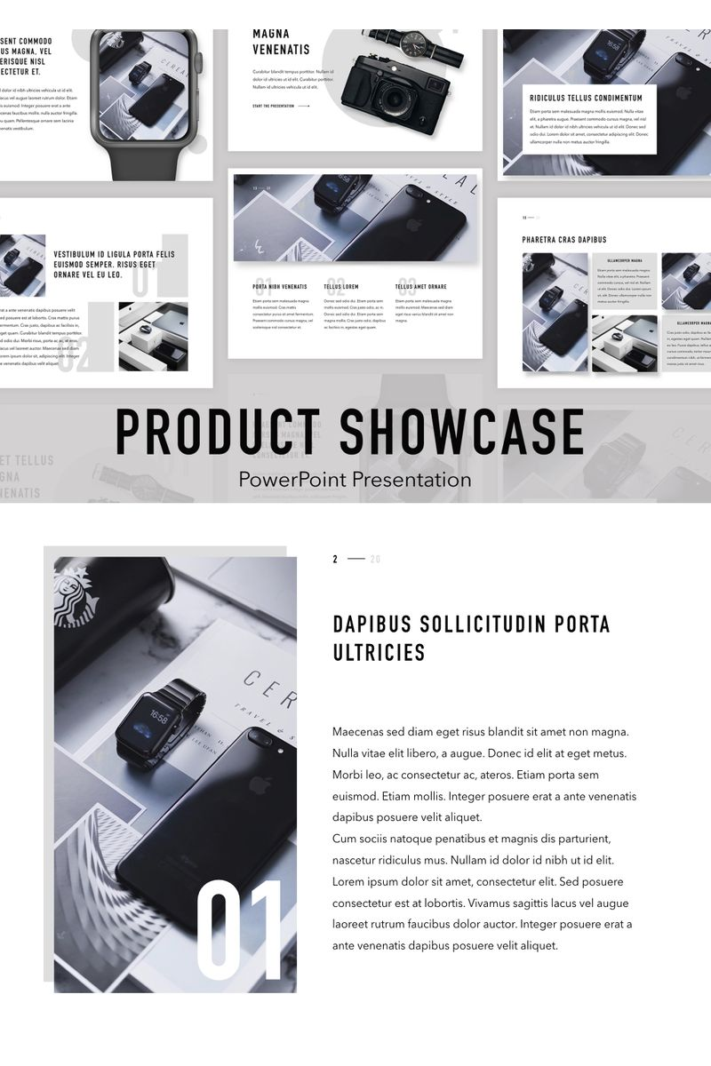 Product Showcase PowerPoint Template