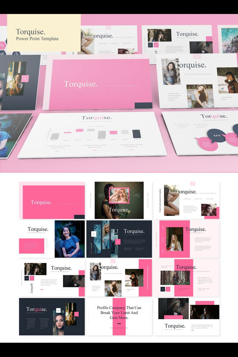 Torquise PowerPoint Template