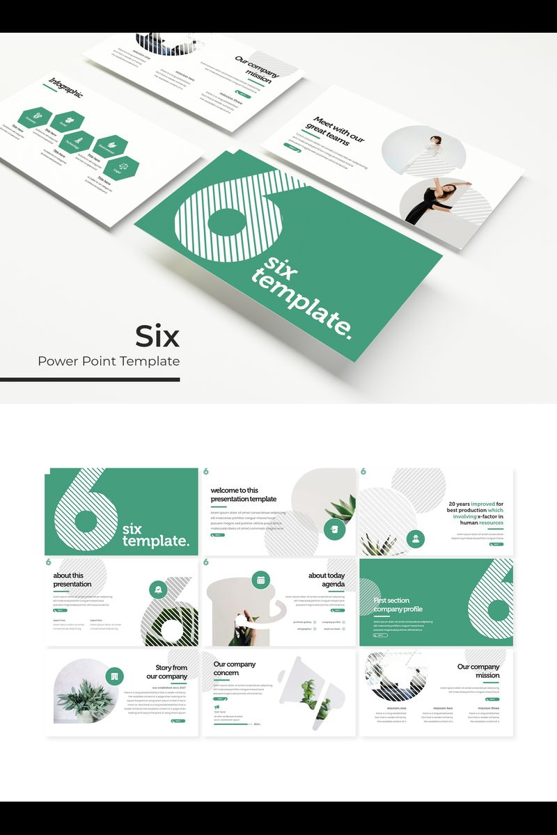 Six PowerPoint Template
