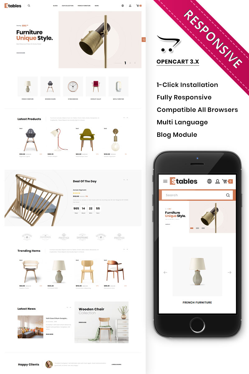 Stables - The Mega Furniture Store OpenCart Template