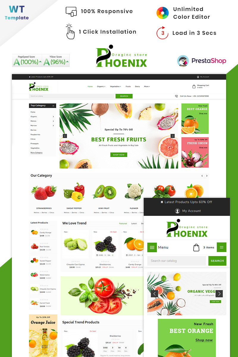 Phoenix Organic Big Mall PrestaShop Theme