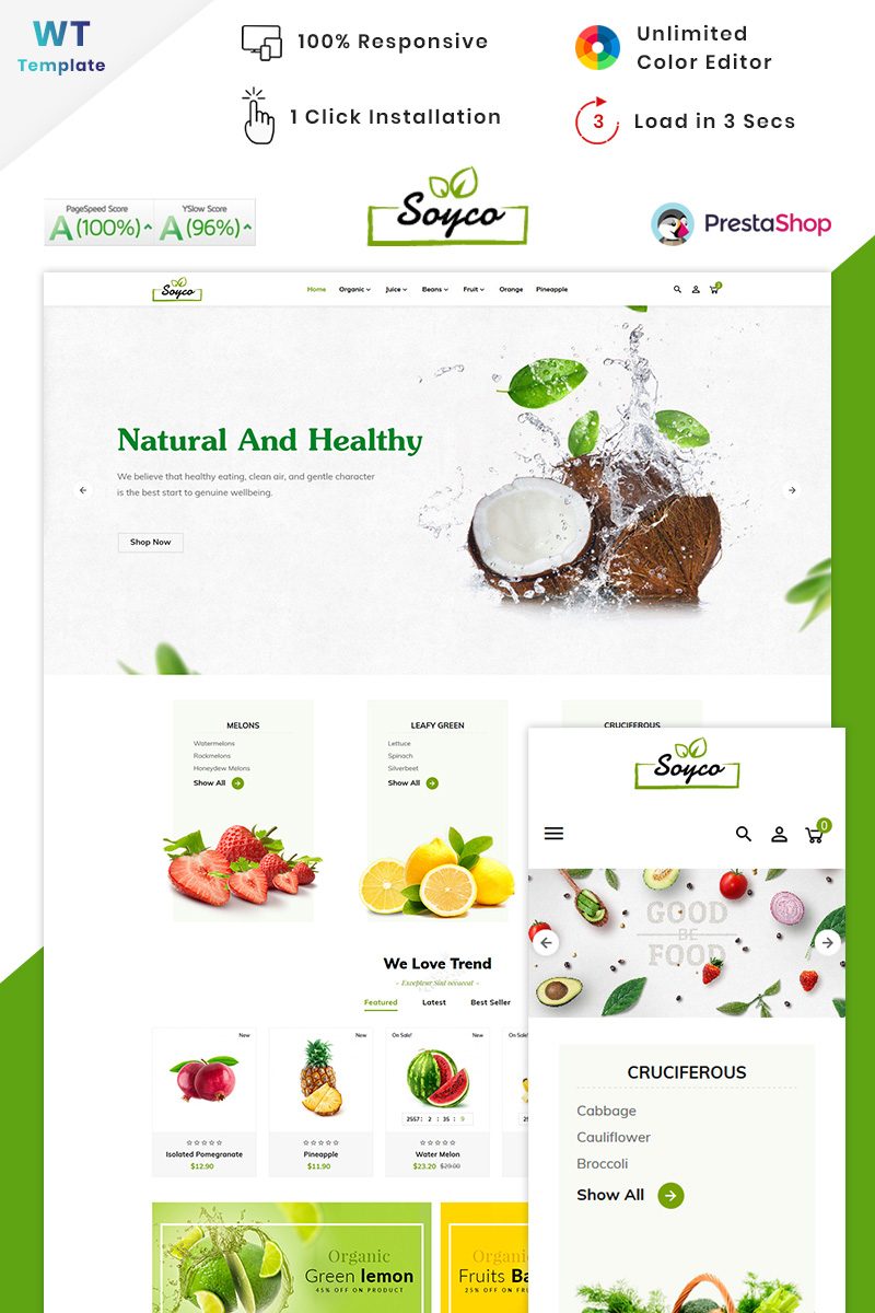 Soyco Organic Super Mall PrestaShop Theme
