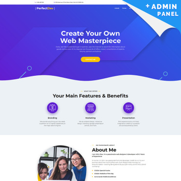Template Web Design Landing Page #90625