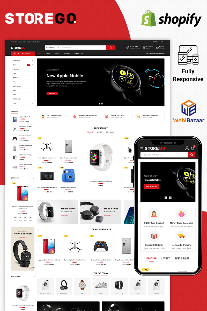 StoreGo - Multipurpose Premium Electronic Shopify Theme