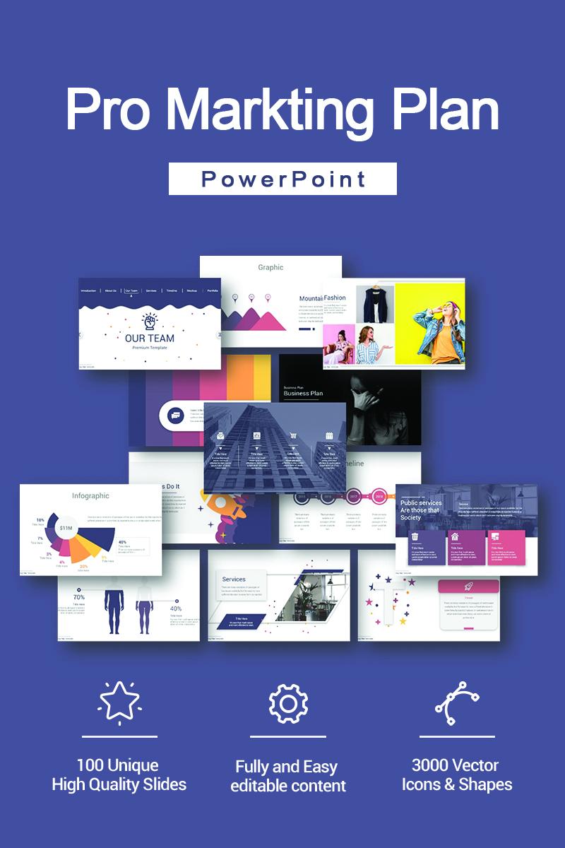 Pro Markting Plan PowerPoint Template