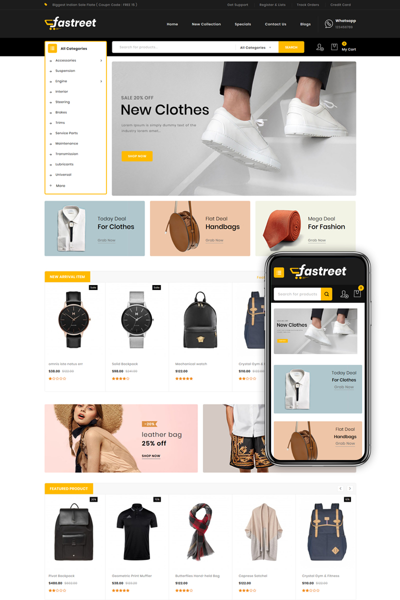 Fastreet - Multipurpose OpenCart Template
