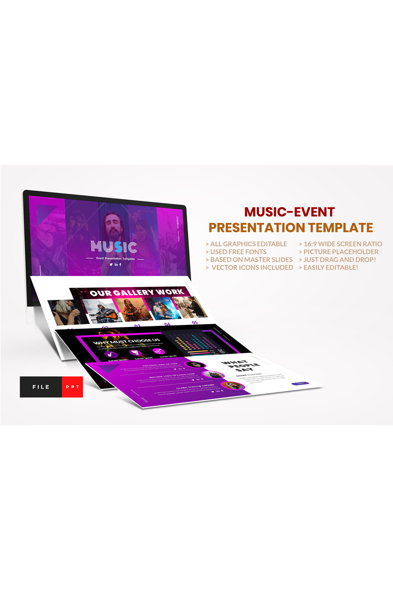 Music-Event PowerPoint Template