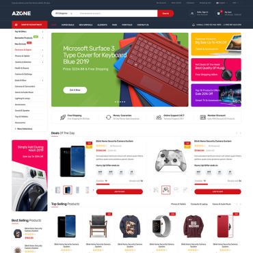 Template Electronice WooCommerce #91788