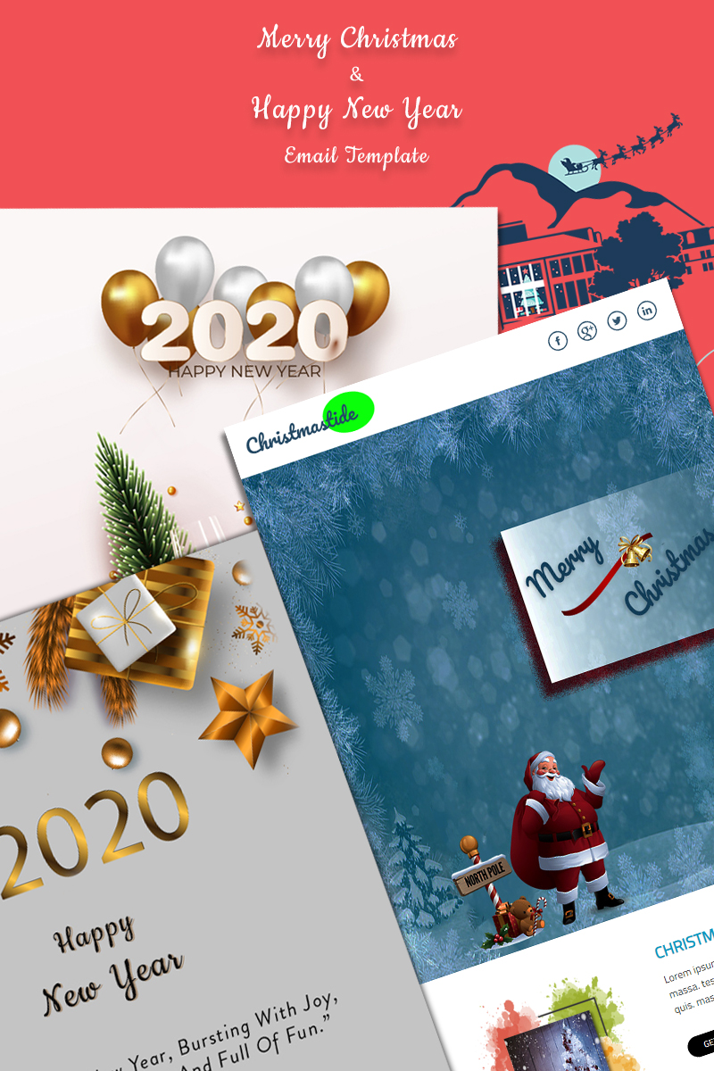 Christmas & New years Newsletter Template