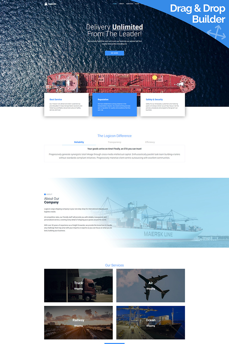 Logicon - Transportation Services Moto CMS 3 Template