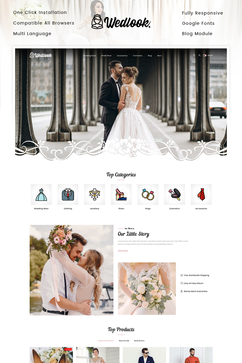 Wedlook - Wedding Wear Store PrestaShop Theme