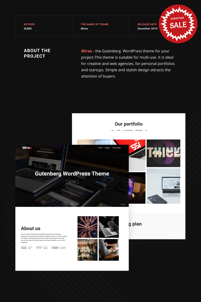 Mirax - Gutenberg WordPress Theme