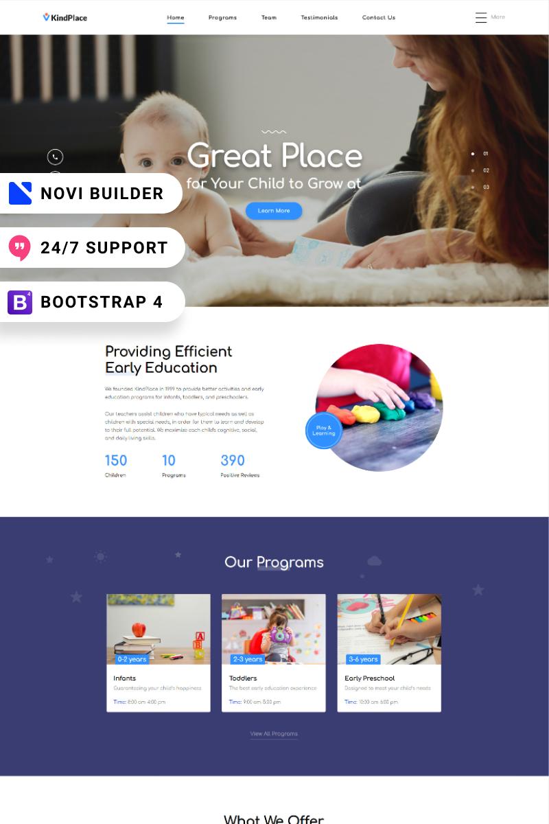 KindPlace - Novi Builder Preschool Center Landing Page Template