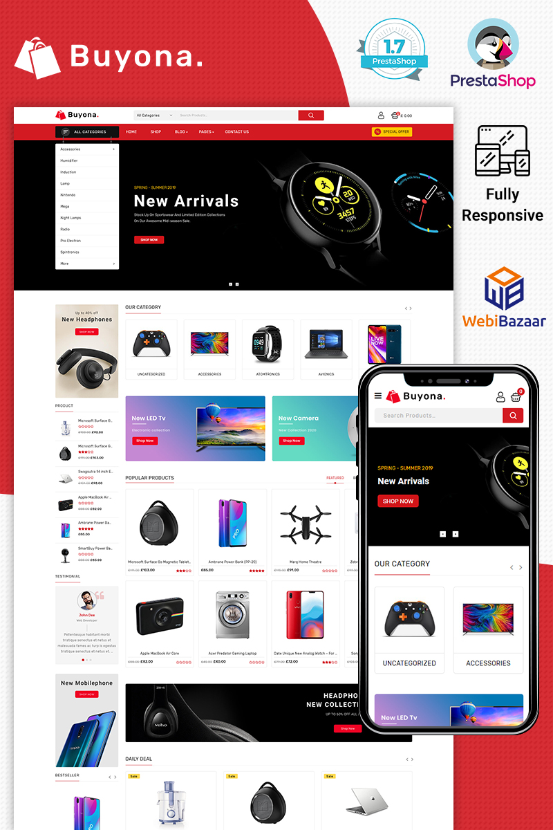 Buyona - Supermart Electronic Template PrestaShop Theme