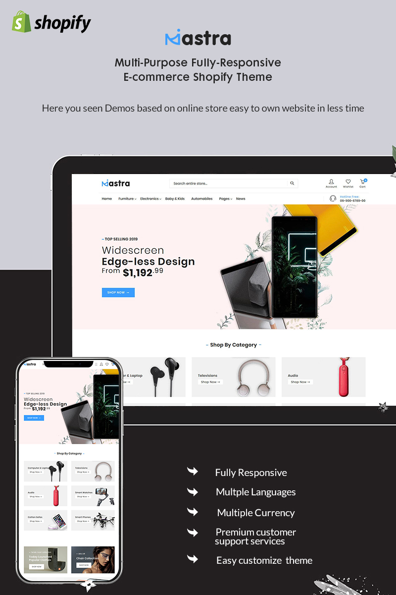 Mastra - The Responsive Multistore Shopify Theme