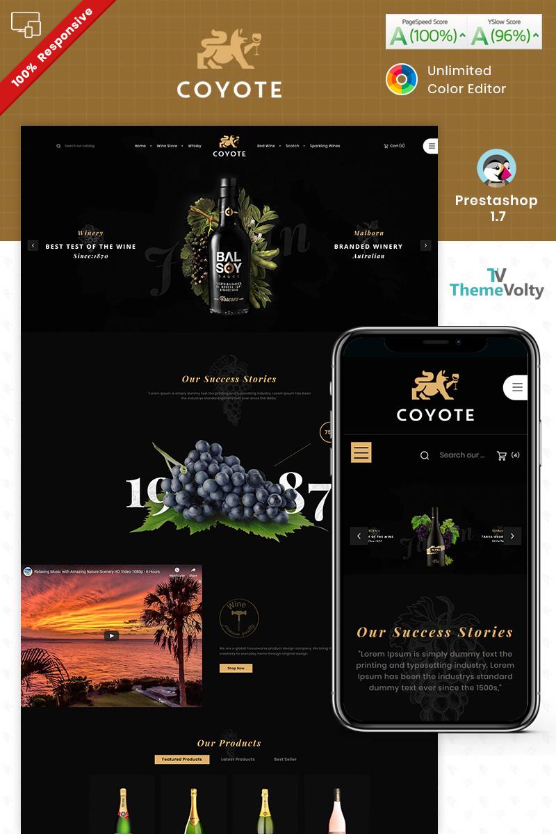 Covote Wine Alcohol Store PrestaShop Theme