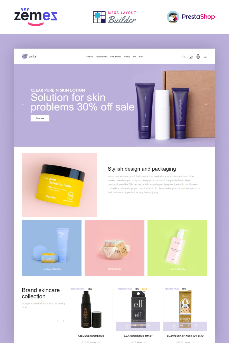 Wellbe - K-Beauty Online Ecommerce PrestaShop Theme