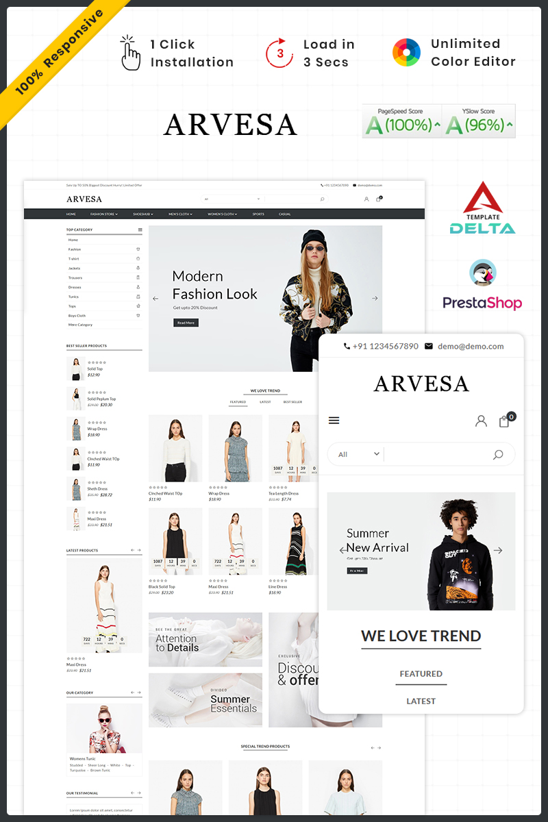 Fashi Arvesa - Fashion Store PrestaShop Theme