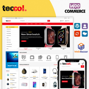 Template Electronice WooCommerce #93614