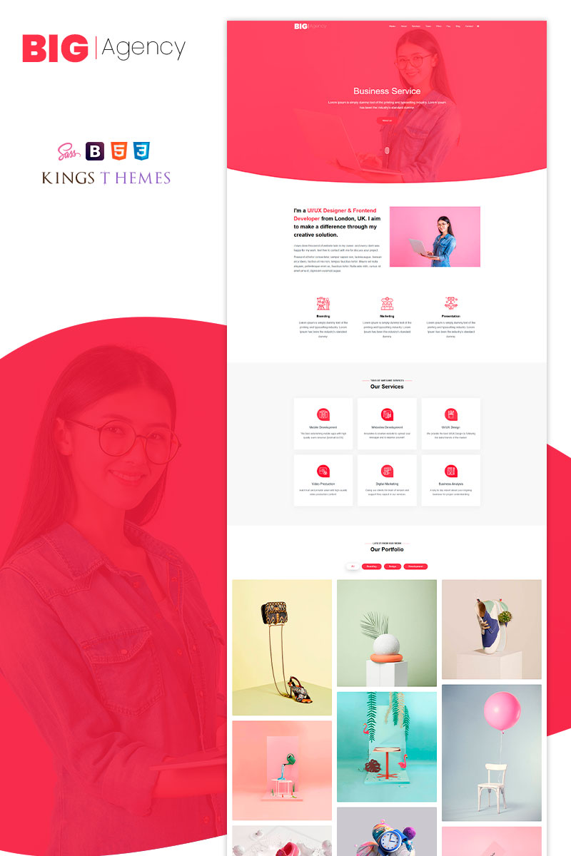 Big Agency - One Landing Page Template