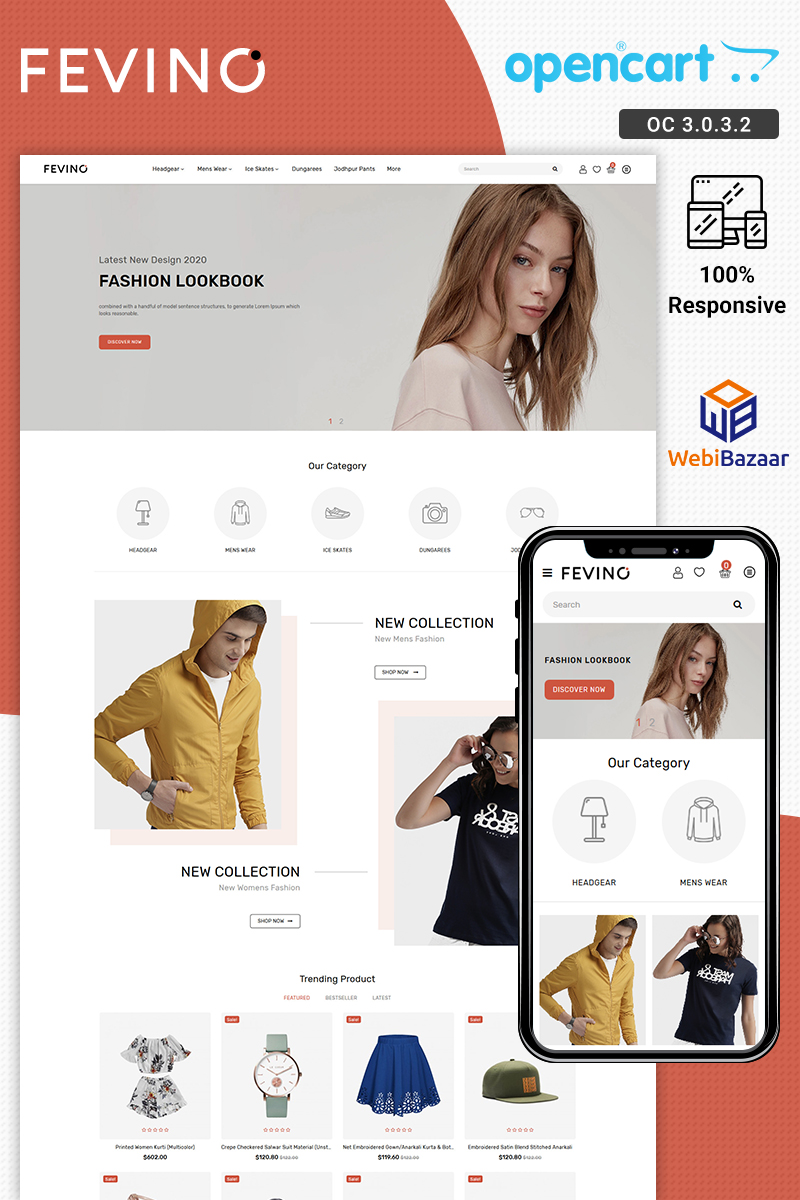 Fevino - Multipurpose Fashion Responsive Store OpenCart Template