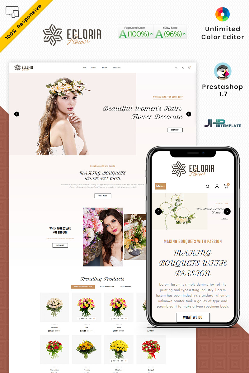 Ecloria Flower PrestaShop Theme