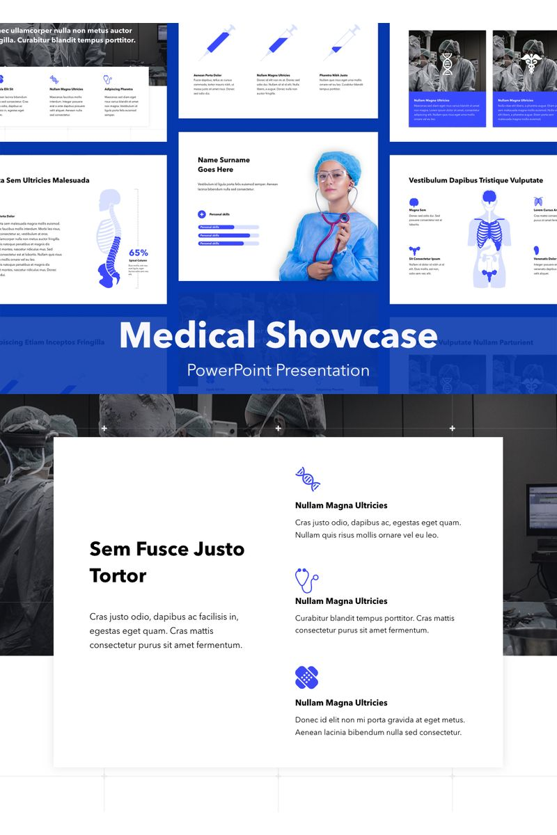 Medical Showcase PowerPoint Template